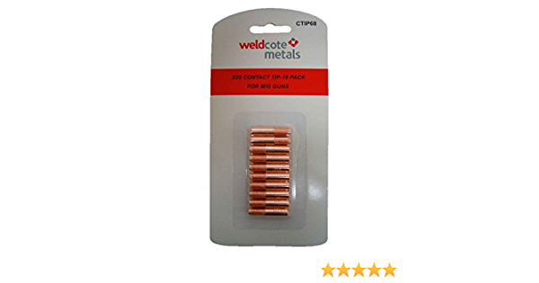 68 Miller Style Contact Tip For .035 Wire 10 Per Card