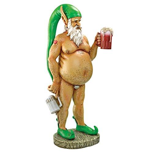 Garden Gnome Statue - Oktoberfest Otto Fully Krausened Elf Gnome - Naughty Gnomes - Drunk Gnome (Gnome Office)
