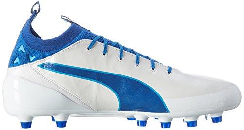Puma Herren evoTOUCH Pro AG Fußballschuhe Weiß (puma white-true blue-blue danube 02)