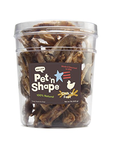 Pet 'N Shape - Made In Usa - Chicken Feet Treat For Dogs, 1-Pound Tub ()