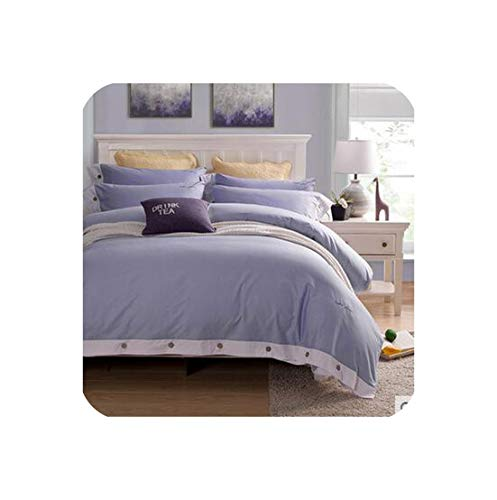 mamamoo 4Pcs Pink Luxury Bedding Set Full Queen King Size Wedding Bed Cotton Bed Sheets Duvet Cover Set Bedspreads, Twin