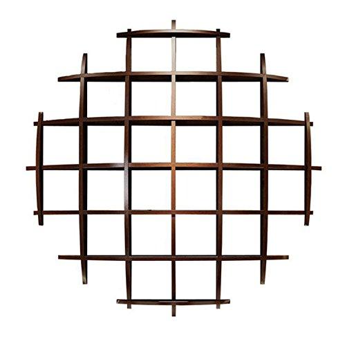 ANDEa ウォールシェルフ、ストアディスプレイラック茶スタンドウォールデコレーションラック壁吊り本棚クリエイティブソリッドウッドレトロ装飾ディスプレイラック100cm 独創性 ( サイズ さいず : 100*100CM ) B07567HKKT  100*100CM