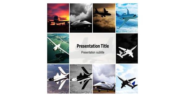 Amazon Airplane Powerpoint Template Airplane Powerpoint