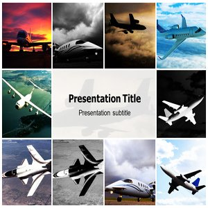 Amazon Com Airplane Powerpoint Template Airplane Powerpoint