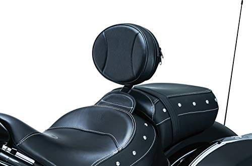 Kuryakyn 1628 Motorcycle Accessory: Plug-N-Go Driver Seat Backrest Pad for 2014-19 Indian Motorcycles, Black