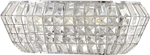 (Minka Lavery Wall Light Fixtures 2363-77 Braiden Bath Vanity Lighting, 3-Light 180 Watts, Chrome)