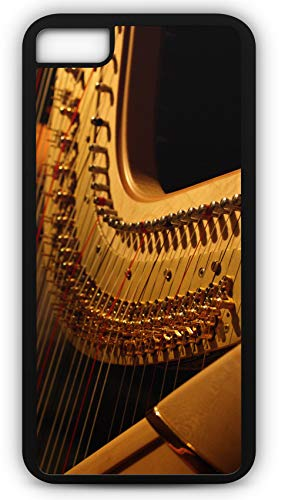 iPhone 8 Plus 8+ Case Harp Musical Instrument Angel Music Orchestra Customizable by TYD Designs in Black Plastic Black Rubber Tough Case