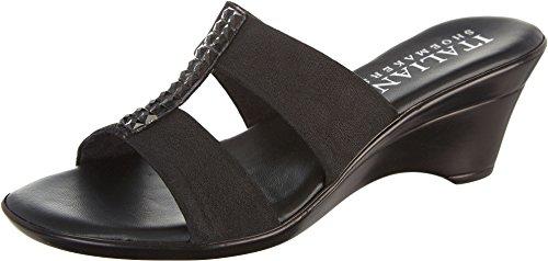 Italian Shoemakers Womens Vital Wedge Sandals 10 Black