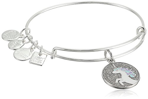 Alex and Ani Unicorn Expandable Shiny Silver Bangle Bracelet by Alex and Ani