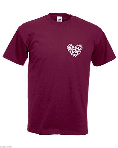 Coeur De D'animal Gratuit Hasard Cadeau Imprimée Décalque Peau Chemise Au Léopard Bordeaux T Forme Avec shirt Hommes 8qRxIRY