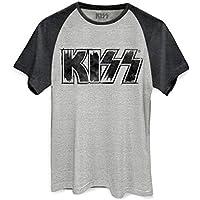 Camiseta Raglan Kiss Logo
