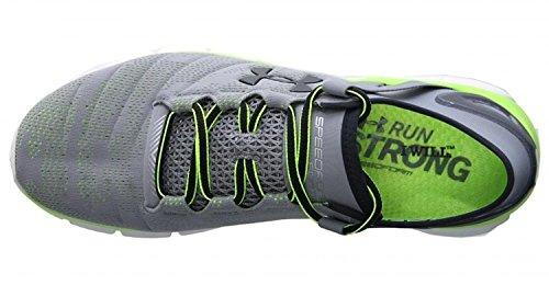 Under Armour Mens Ua Speedform Apollo Twst Sneaker Acciaio / Antracite / Verde Carburante