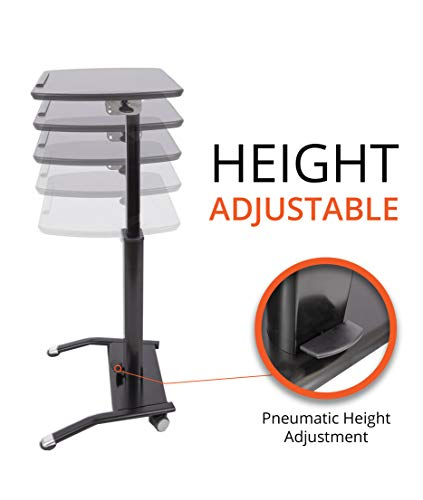 Pneumatic Adjustable-Height Lectern (Black) by Stand Up Desk Store (Image #2)