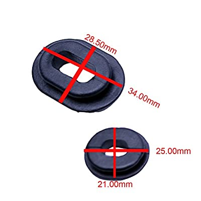 FLYPIG Replacement Rubber Side Cover Grommet Fit Honda CB100 CB125S CL100 CL100S CL125S SL100 125 TL125 125S XL100 100S XL125 125S XL185S XR185 XR200 CG125 CB125T Single Side Panel Fairing Washer: Automotive