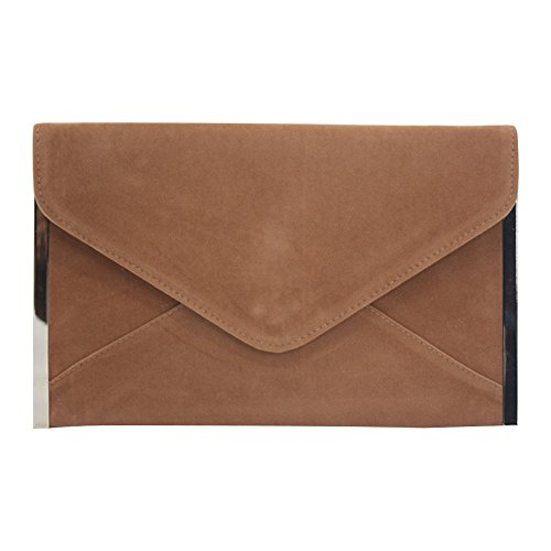 Velvet Womens Bag Evening Bridesmaid Brown Clutch Purse Wedding Envelope Party Wocharm zw5fqz