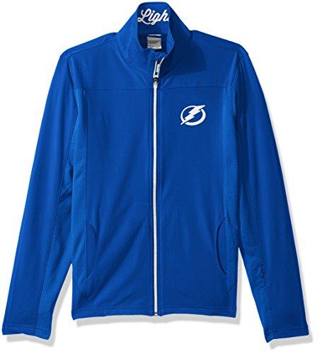 (Levelwear LEY9R NHL Tampa Bay Lightning Women's Aurora Insignia Banner Stripe Full Zip Mid-Layer Apparel, X-Large, Royal Blue)