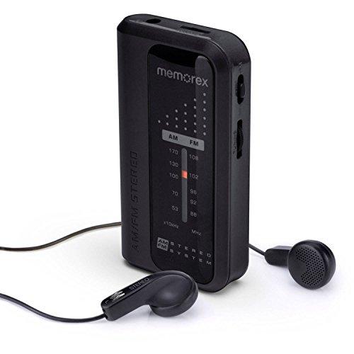 Memorex MR4240 Portable AM/FM Pocket Radio, Black