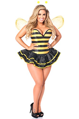 Daisy Corsets Women's Top Drawer Premium Queen Bee Corset Costume, Black, 6X]()