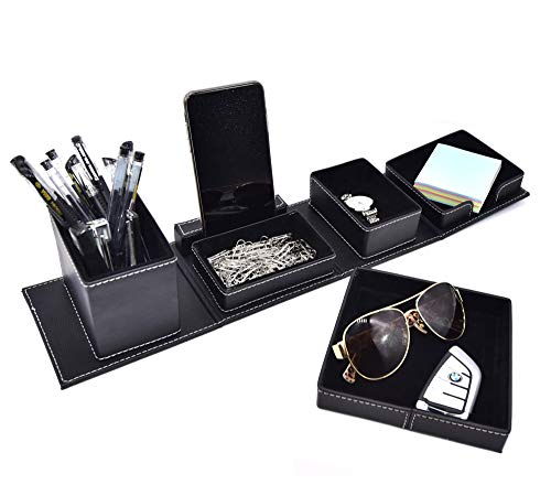 Leather Office Supplies Desk Organizers And