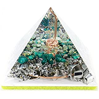 Orgonite Orgone Pyramid - Energy Generator - REIKI HEALING - Crystal Gemstone Pyramid - Quartz Nephrite Malachite - LARGE & POWERFUL! Add Yours to Cart Now!