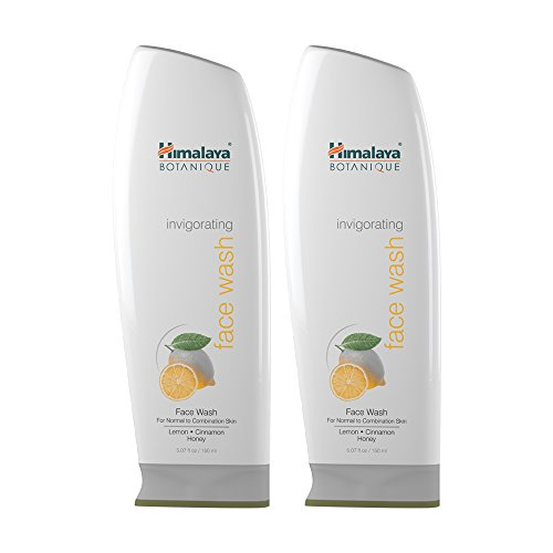 Himalaya Botanique Invigorating Face Wash for Normal to Combination Skin, Free from Parabens, SLS and Phthalates, Hydrating Facial Cleanser with Lemon, Cinnamon and Honey, 5.07 oz (150 ml) 2 PACK