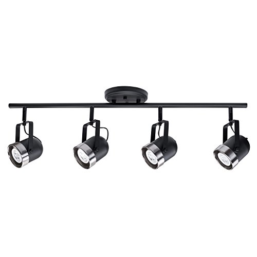 Globe Electric 59272 Mccoy 4 Track Lighting Finish, Brushed Nickel Accents, Matte - Warehouse Track