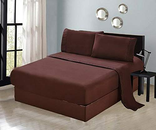 Hebel 4 Piece Sheet Set Flat Fitted Pillow Cases 1500 Series at   Model SHTST - 4501   Full ()