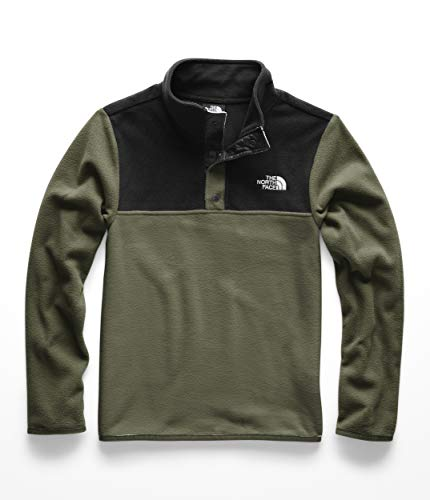 The North Face Kids Boy's Glacier 1/4 Snap (Little Kids/Big Kids) New Taupe Green Small