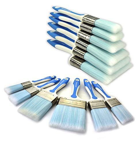 - 6 Piece Professional Paint brush set (4INCH 3INCH 2.5INCH 2INCH 1INCH 1.5CIN 1INCH) household paint brushes wallpaper brushes home repair tools set