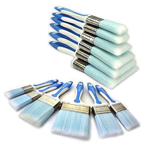 Grip Paint Brush - 6 Piece Professional Paint brush set (4INCH 3INCH 2.5INCH 2INCH 1INCH 1.5CIN 1INCH) household paint brushes wallpaper brushes home repair tools set