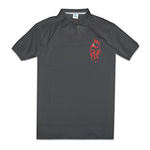 [Tops & T-Shirts The Besnard Lakes Men's Black Polo Dress] (Spartacus Outfit)