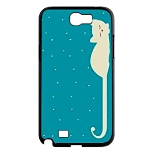 Customized Durable Case for Samsung Galaxy Note 2 N7100, Cute Cats Phone Case -R634346