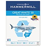 Great White Recycled Copy Paper, 92 Brightness, 20lb, 8-1/2 x 11, 5000 Shts/Ctn, Sold as 10 Ream