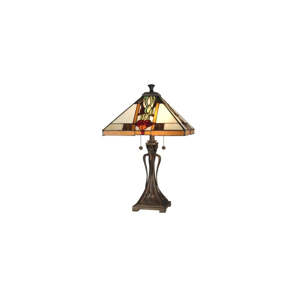 Dale Tiffany Natalie Mission Table Lamp Material   Poly