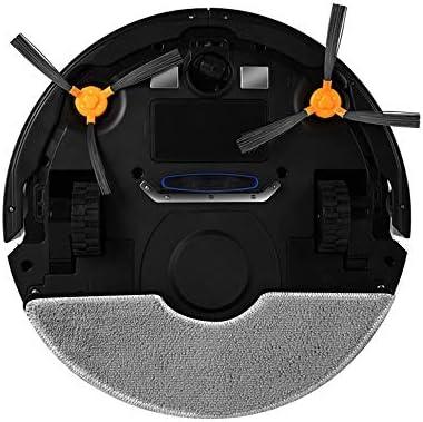 INSN De Recharge Automatique Télécommande Robotique Aspirateur avec Capteur Infrarouge, Balayage Et Mop 2 en 1, Anti-Drop & Collision Capteur, Pet Tapis Cheveux Planchers Durs