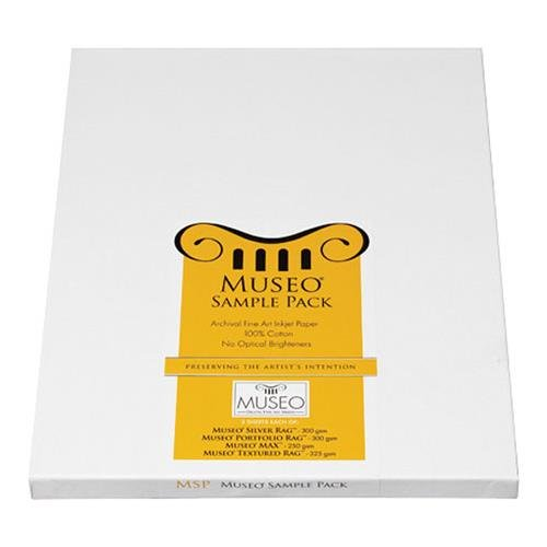 Museo 09802 InkJet Sample Pack, 3 Sheets 8.5x11