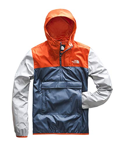 - The North Face Men's Fanorak, Shady Blue/Zion Orange/High Rise Grey, Size M