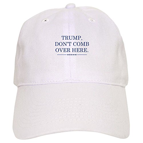 CafePress - Trump Don't Comb Over Here Cap - Baseball Cap Adjustable Closure, Unique Printed Baseball Hat