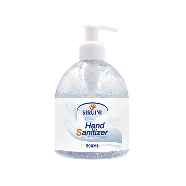 Siruni 75% Alcohol Antibacterial Hand Sanitiser Gel - Non Sticky