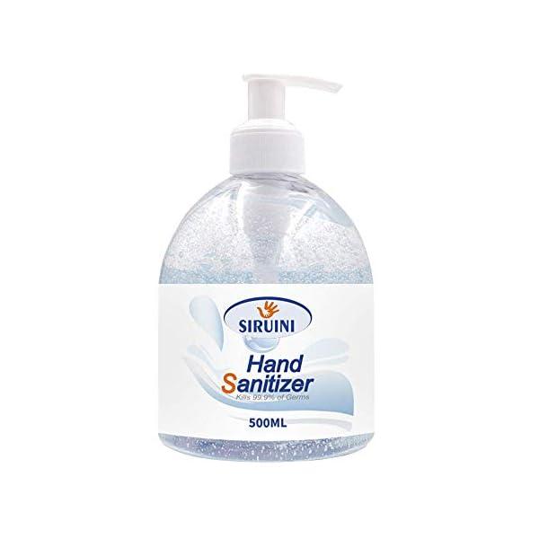 Siruni 75% Alcohol Antibacterial Hand Sanitiser Gel - Non Sticky