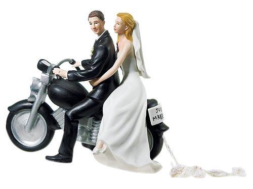 Weddingstar Motorcycle Get-away Wedding Couple Figurine - Motorcycle Wedding Accessories