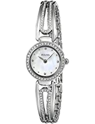 Bulova Womens 96L126 Crystal-Accented Bangle Watch