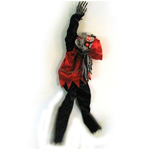 Skeleton Pirate Animated Hanging Halloween Prop 48