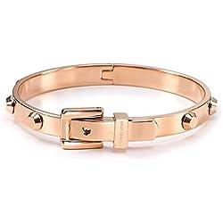 Michael Kors MKJ1821 Rose Gold Astor Buckle Bangle Bracelet