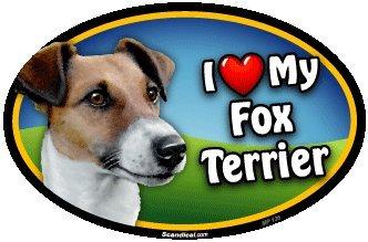 I Love My Fox Terrier Oval Magnet (Terrier Magnet Fox)