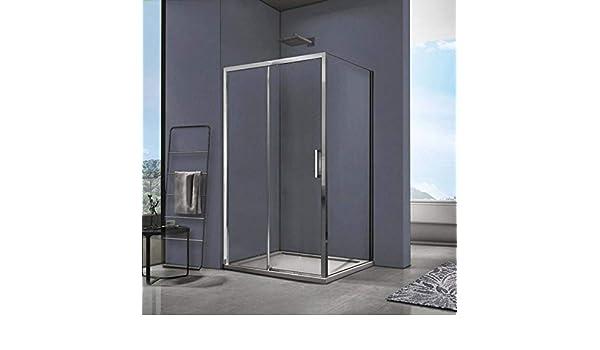 SPAZIO Space Box Ducha Reversible Fija + Deslizante 70 x 120 cm ...