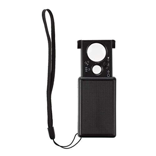 TOOGOO 30X 60X Magnifier Magnifying Glass Eye Loupe Lens LED Pocket Jeweller Microscope