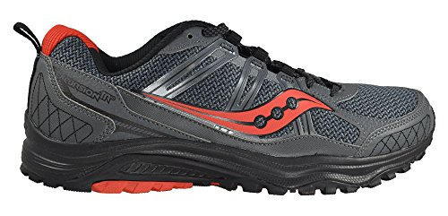 Saucony Grid Excursion TR 10 Men's Running Shoes Size US 11, Regular Width, Color Charcoal/Black/Red