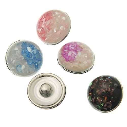 Sunne Mixed Color DIY Snap Button Jewelry Charms 18mm Pack of (Princess Peach Costume Homemade)