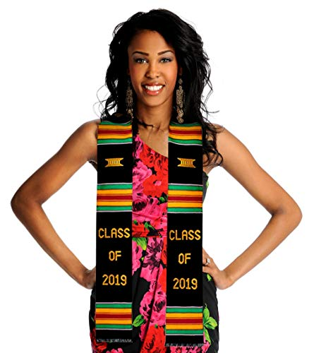 Royal Kente Class of 2019 Kente Cloth Graduation Stole. Look Amazing on Your Grad ()